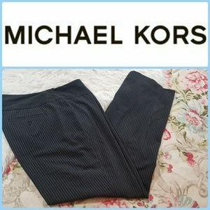 MICHEAL KORS Black Pinstripe TROUSER DRESS PANTS